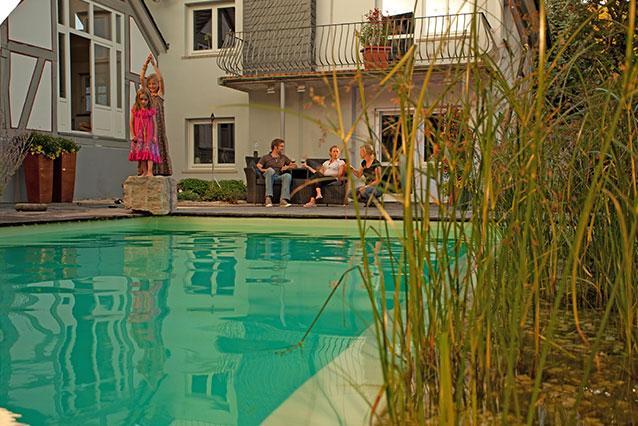 Schwimmteich Hecke Bepflanzung Marburg Hohenahr